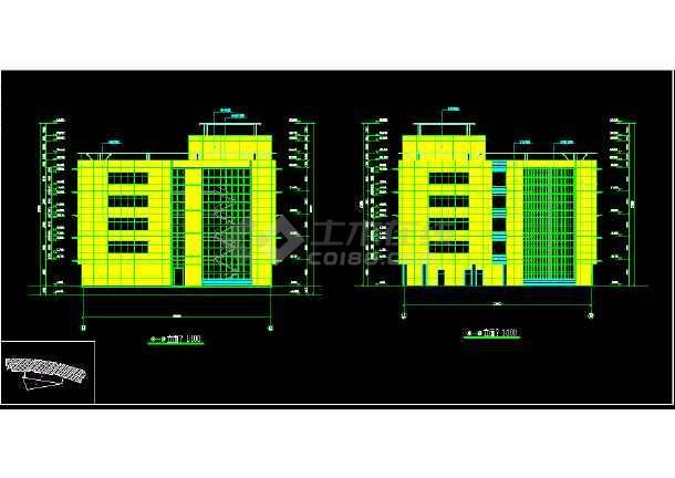 某市区大型办公式酒店CAD详细图纸-图3