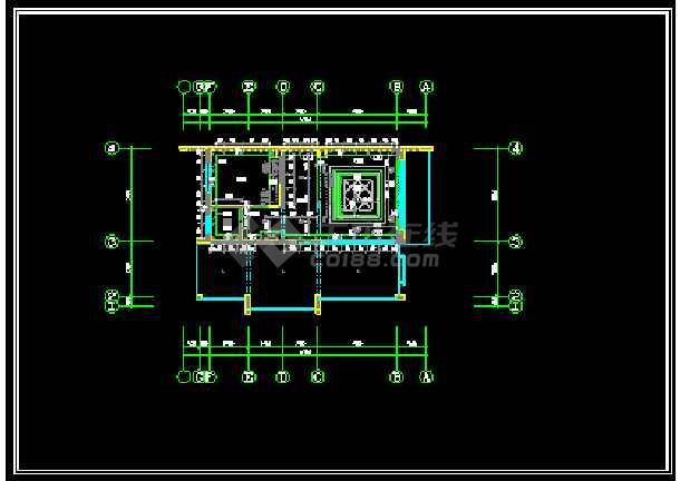 某城市精品别墅小区CAD装修全套图-图3