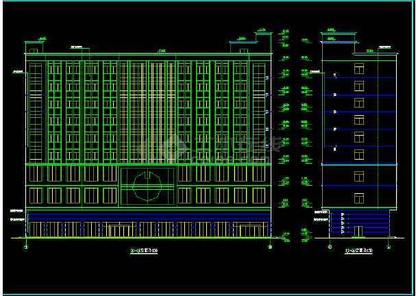 某市区多层酒店CAD详细建筑图纸-图1