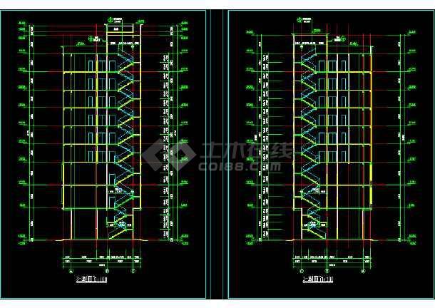某市区多层酒店CAD详细建筑图纸-图2