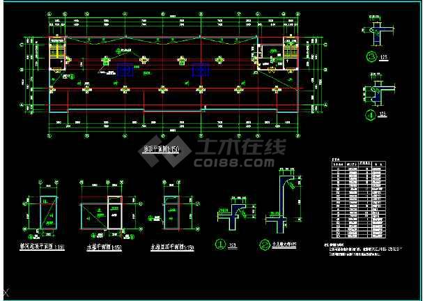 某市区多层酒店CAD详细建筑图纸-图3