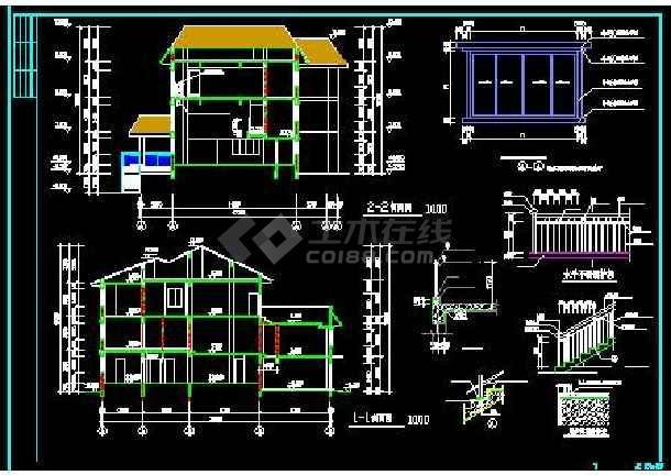 白云苑欧式高档别墅全套装修设计施工图-图1