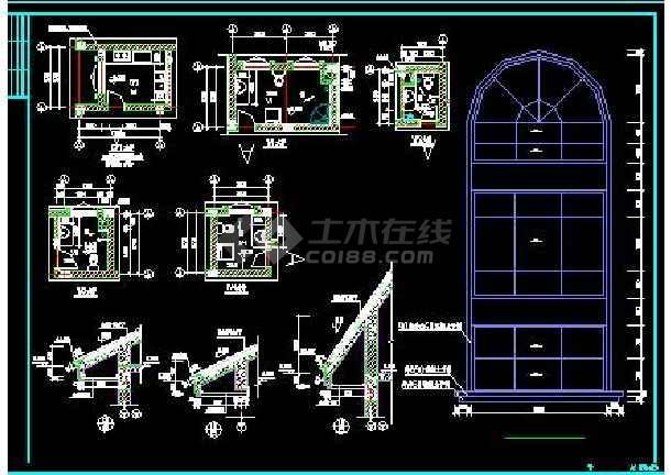 白云苑欧式高档别墅全套装修设计施工图-图2