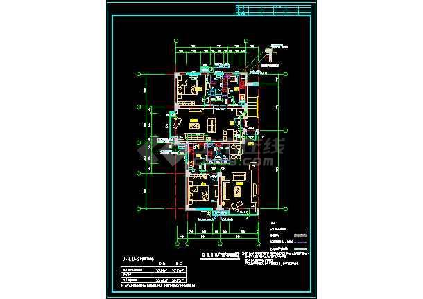 某一处住宅楼户型的CAD平面图纸-图2