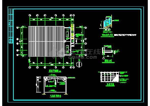 经典浴池建筑cad施工设计大详图-图1