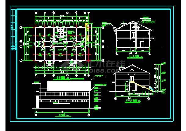 经典浴池建筑cad施工设计大详图-图2