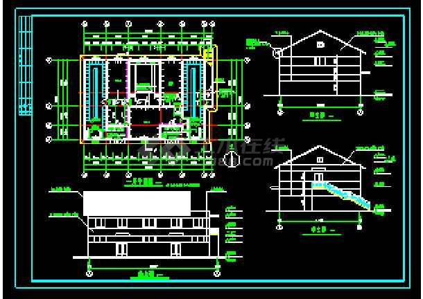 经典浴池建筑cad施工设计大详图-图3