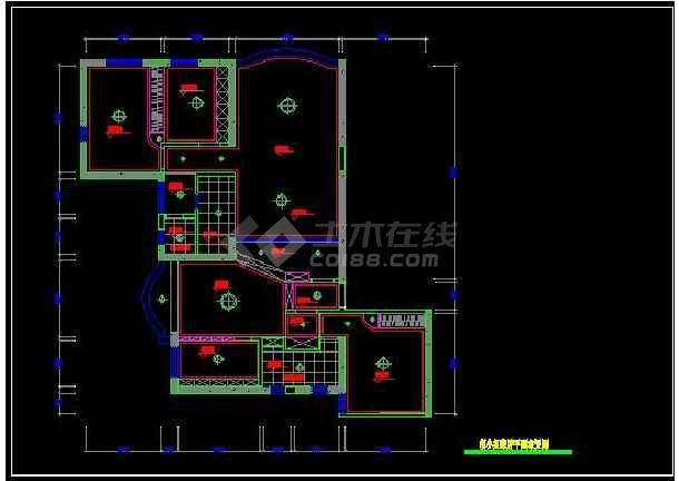 阳光海景内四居室全套装修设计施工图-图2