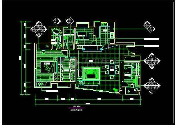 农村某四居室全套装修设计施工图纸-图1