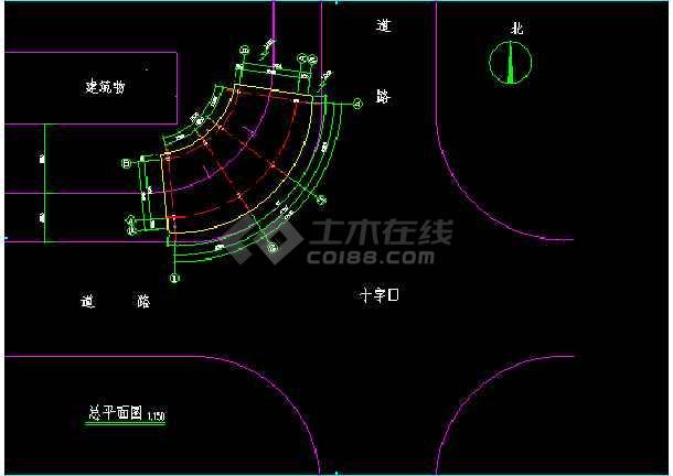 一套售楼处建筑结构CAD施工设计图纸-图3