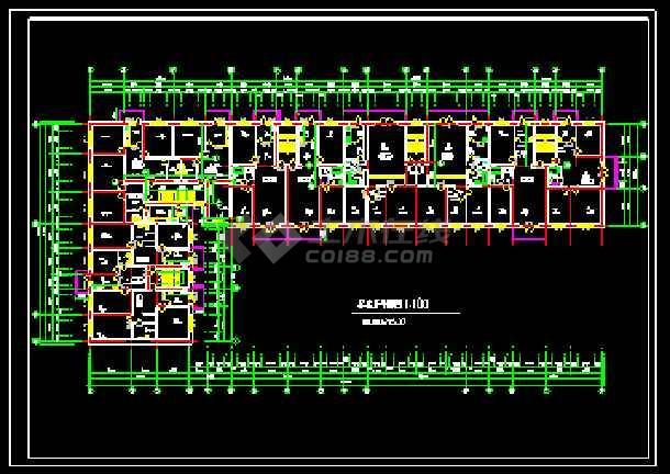 某前进村农民集资楼建筑施工平面图-图2
