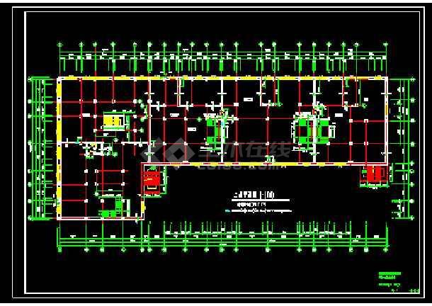 某前进村农民集资楼建筑施工平面图-图3