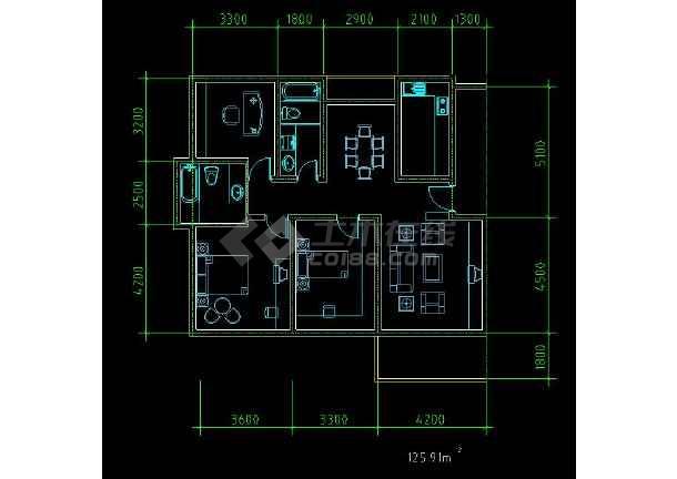 某地住宅区户型方案设计CAD施工图-图1