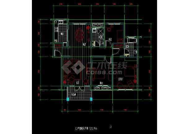 某地住宅区户型方案设计CAD施工图-图2