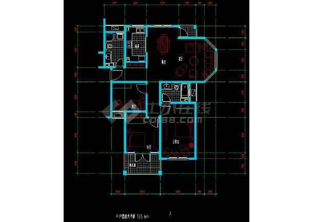 某地住宅区户型方案设计CAD施工图-图3