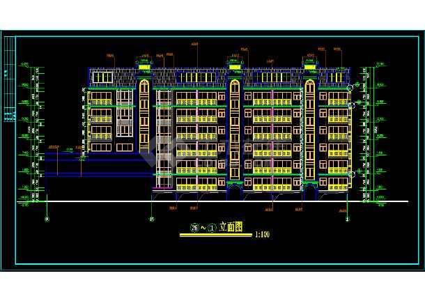 某城市一处住宅建筑的CAD施工设计图-图1