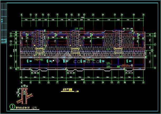 某城市一处住宅建筑的CAD施工设计图-图2