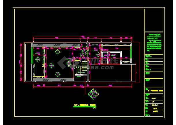 混搭顶级三层别墅建筑cad设计施工图-图2