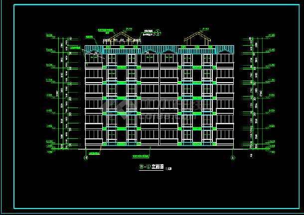某城市一处经典住宅楼的CAD建施图纸-图1