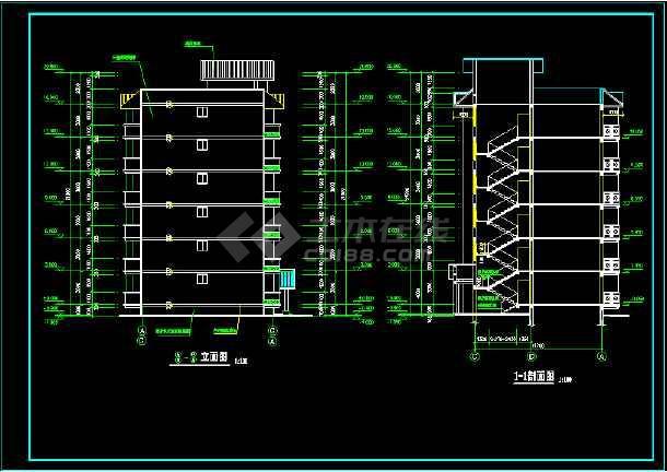 某城市一处经典住宅楼的CAD建施图纸-图2