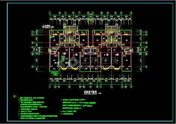 某城市一处经典住宅楼的CAD建施图纸-图3