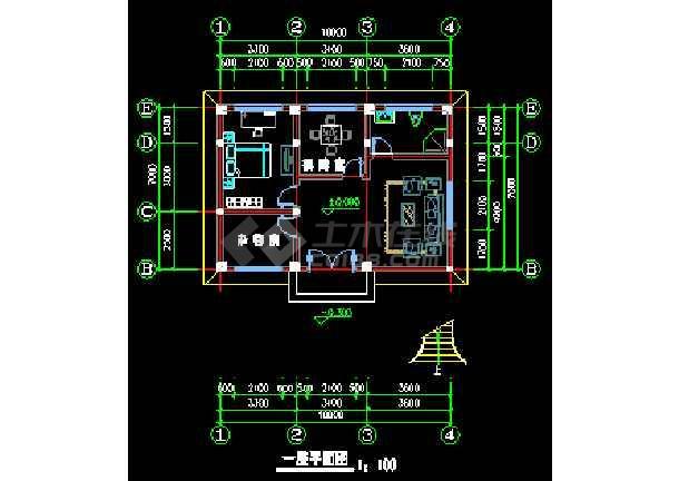 某地农村别墅CAD建筑设计施工图-图1