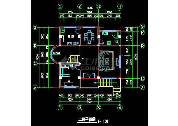某地农村别墅CAD建筑设计施工图-图2