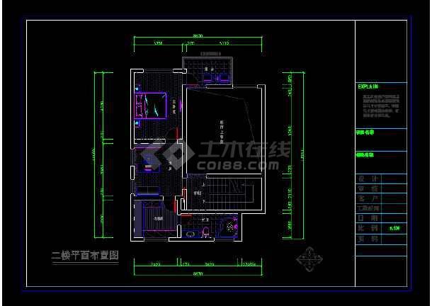 金源酒店后别墅三层经济型别墅室内cad装修图(含效果)-图1