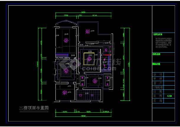 金源酒店后别墅三层经济型别墅室内cad装修图(含效果)-图2
