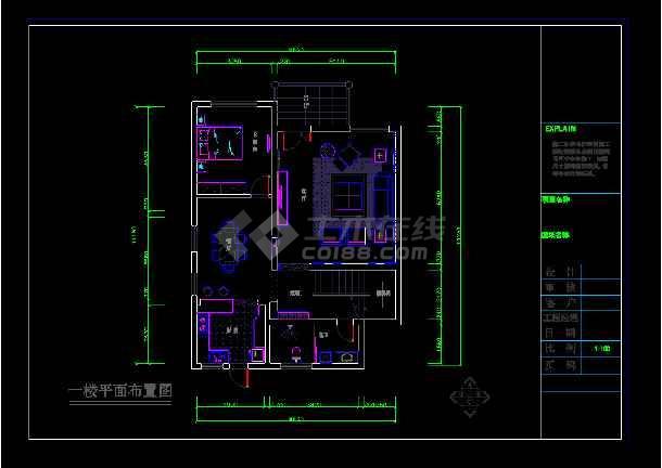 金源酒店后别墅三层经济型别墅室内cad装修图(含效果)-图3