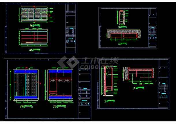 重庆某科技示范园VIP双层别墅cad室内装修图-图2