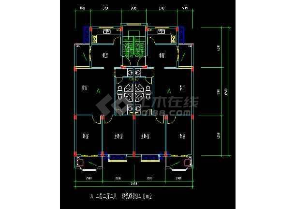 某地多层住宅建筑经典户型方案设计CAD图-图2