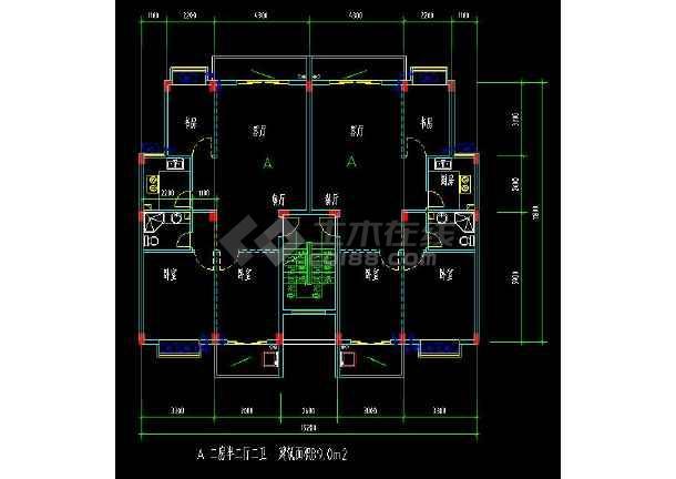 某地多层住宅建筑经典户型方案设计CAD图-图3