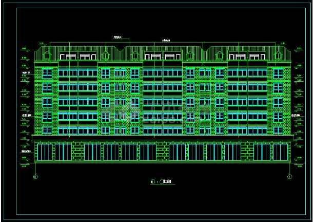 某地砖混结构住宅楼建筑cad设计施工图-图1