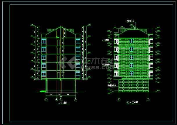 某地砖混结构住宅楼建筑cad设计施工图-图2