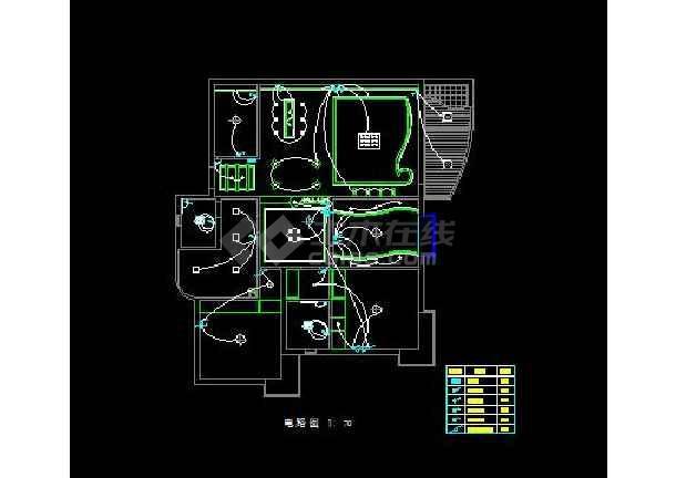 花园式四居室全套装修设计施工图纸-图3