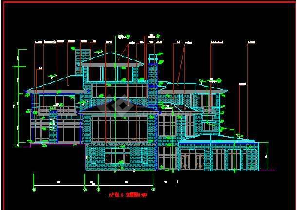 北京某经典别墅建筑CAD设计全套施工图纸-图1