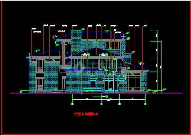 北京某经典别墅建筑CAD设计全套施工图纸-图2