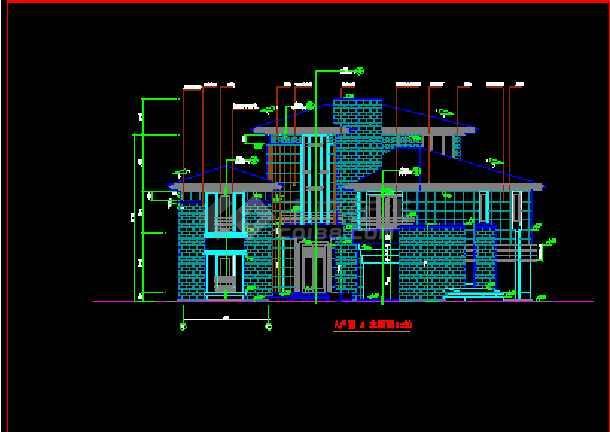 北京某经典别墅建筑CAD设计全套施工图纸-图3