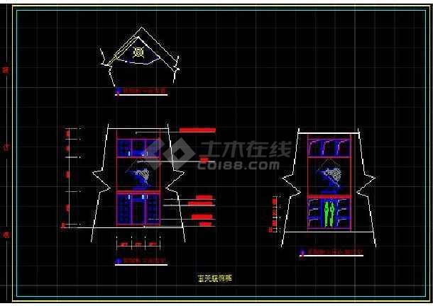 经典四居室室内全套装饰设计施工图纸-图2
