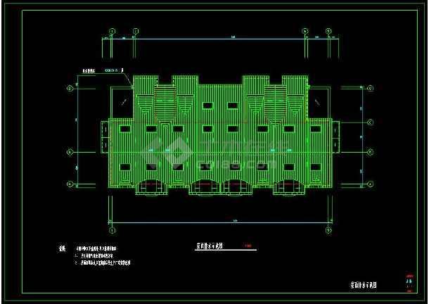 某小区多层坡屋顶住宅建筑方案设计CAD图-图1