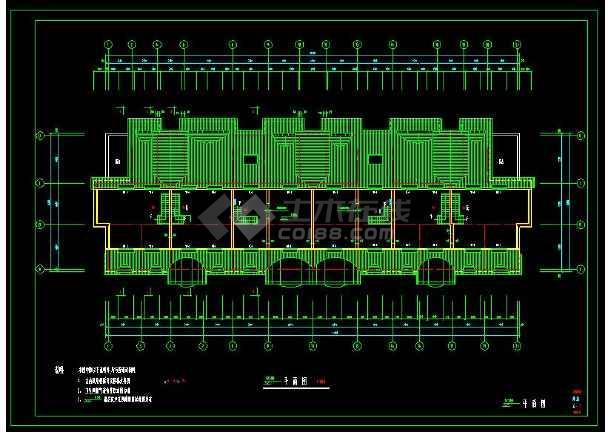 某小区多层坡屋顶住宅建筑方案设计CAD图-图2