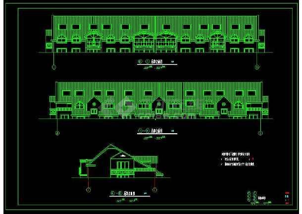 某小区多层坡屋顶住宅建筑方案设计CAD图-图3