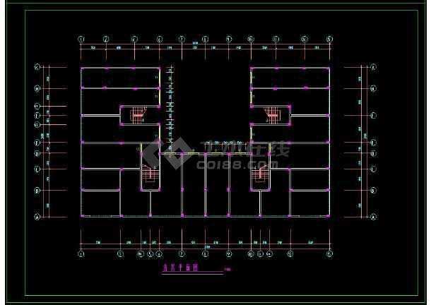 某企业职工安置楼建筑方案设计CAD施工图-图1