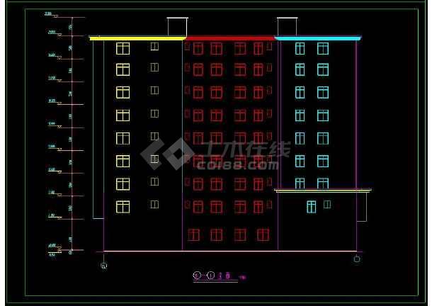 某企业职工安置楼建筑方案设计CAD施工图-图2