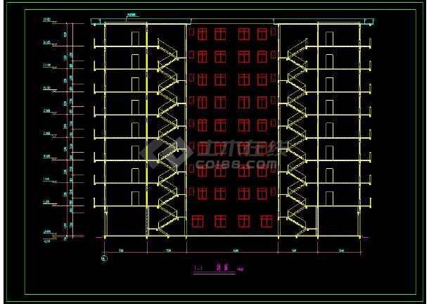 某企业职工安置楼建筑方案设计CAD施工图-图3