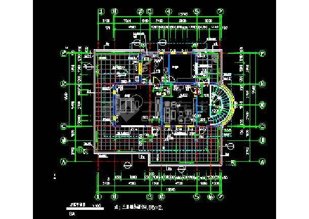 某市经典别墅样板建筑CAD施工设计图纸-图2