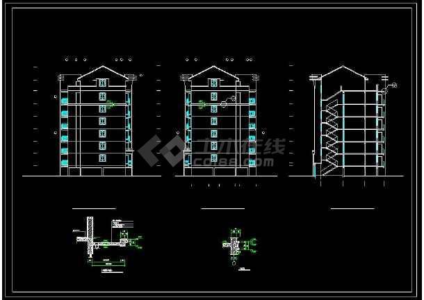 某地多层复式住宅建筑设计CAD施工图-图3