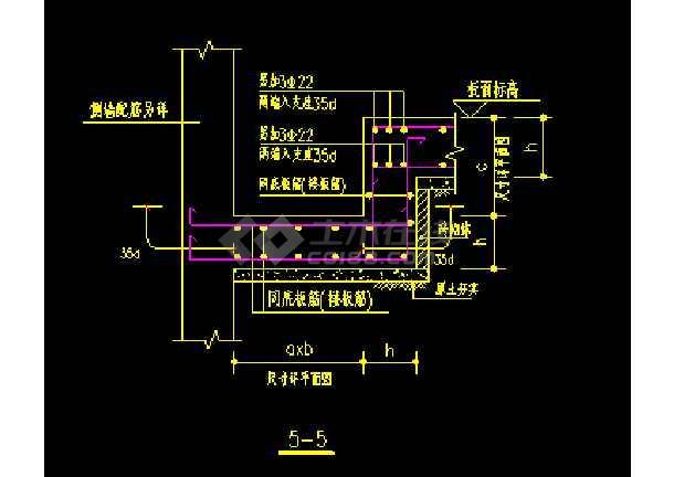 地下室底板集水井及集水沟cad大样图-图1