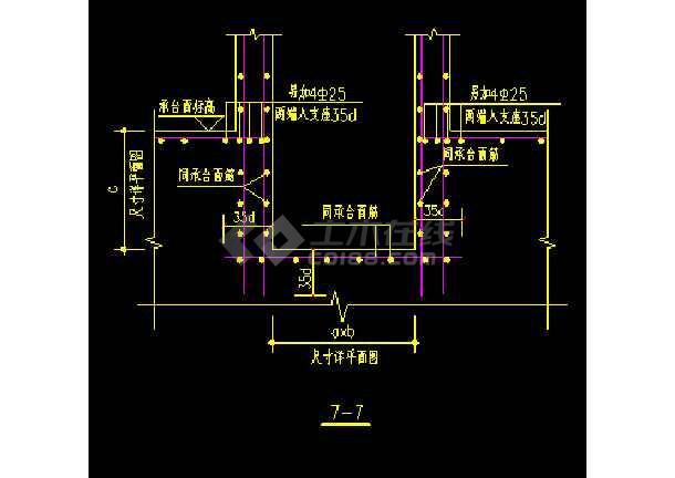 地下室底板集水井及集水沟cad大样图-图2